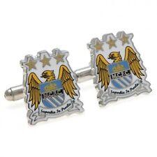 Man City Cufflinks - Crest Design - Chrome Cuff links - Ideal Gift