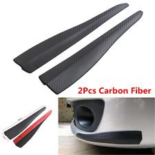 2Pcs Carbon Fiber Car Front Bumper Guard Protection Corner Strip Crash Bar Trim