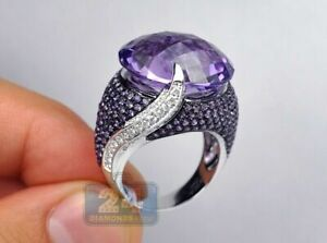 Fashion Women's Wedding Rings 925 Silver Jewelry Sapphire Ring Size 6-10