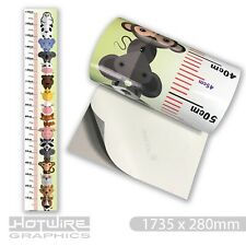 Childrens Height Chart Scale - Zoo Animals Kids Fun - Removable Vinyl Sticker