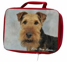 More details for welsh terrier dog 'love you mum' insulated red school lunch box/pi, ad-wt1lymlbr