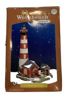 Santa's Workbench Creekside Light House Porcelain Lighted House With Box