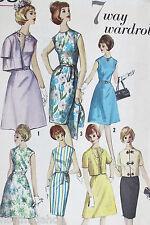Vtg 1960s Simplicity Pattern 5398 Uncut Classic Wardrobe Ensemble Dress Skirts