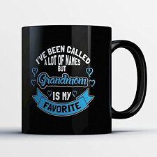 Grandmom Coffee Mug - Grandmom Is My Favorite - Adorable 11 oz Black Ceramic Tea