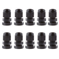 10pcs PG7 Waterproof Wire Cable Glands Clamp Black Plastic Connector Adaptor