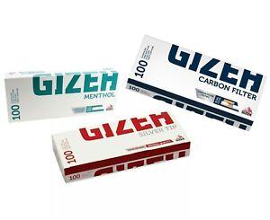 GIZEH Make Your Own CIGARETTE FILTER TUBES MENTHOL, CARBON KING SIZE TUBE PAPER