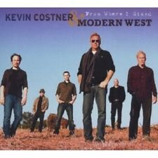 "KEVIN COSTNER & MODERN WEST ""FROM WHERE I STAND"" CD NEW+"