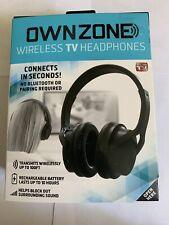 Own Zone Wireless TV Headphones ear Plug Audio Hear Recharge
