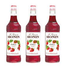Monin Sirup Erdbeere, 1,0L, 3er Pack