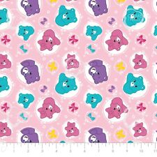 Care Bear Sparkle & Shine - Arrows in Pink Cotton Fabric By The Yard