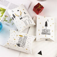 Party Supplies Kraft Gift Bag Paper Candy Boxes Pillow Shape Box Christmas