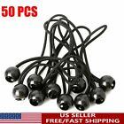 50PCS Bungee Cord Ball Bungees Canopy Tie Down Straps Heavy Duty Tarp Accessory
