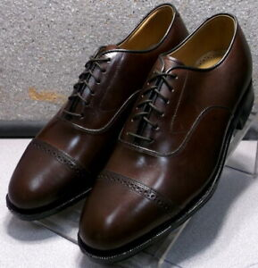 2408564 ES50 Men's Shoes Size 6.5 EEE Brown Leather Lace Up Johnston & Murphy