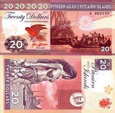 SCARCE PITCAIRN ISLANDS $20 FANTASY ART NOTE BY GABRIS - BOUNTY, TOPLESS NATIVE!