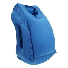 Inflatable Air Travel Pillow Car Airplane Neck Head Chin Cushion Office Nap Rest