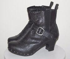 Dansko Studded Black Leather Ankle Boots Size US 8.5 / Euro 39