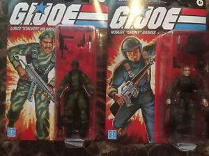 2021 Hasbro G.I.Joe Lot of 2 Sgt Stalker & Sgt Grunt