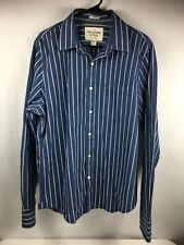 Abercrombie & Fitch Men's Long Sleeve Blue Muscle Button Down Shirt Size XXL 2XL