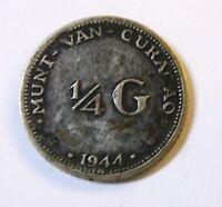 1944 D 1/4 G. Netherlands Curacao