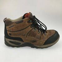 Eddie Bauer Mens Hiking Trail Boots Brown Leather Lace Up Waterproof 9.5 M