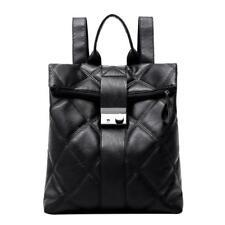 Women Backpack Black Quilted Casual Elegant Shoulder Bag Faux Leather