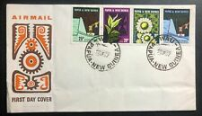 1970 Wau Papua New Guinea First Day Souvenir Cover FDC Hydro Flower System
