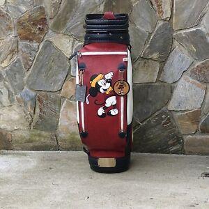 Vintage Belding sports Disney Mickey Mouse leather Golf cart bag staff DAMAGED
