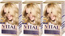 Schwarzkopf Vital Colors 10-2 Light Ash Blonde Permanent Hair Colour Dye x 3