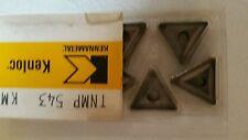 5 Pcs Kennametal Kenloc TNMP 543 KM Indexable Lathe Carbide Inserts TNMP543