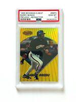 1996 Bowman's Best Barry Bonds Refractor Card #BBP4, PSA 10, POP 5! SF Giants!