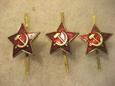 Soviet Army Cap Badge lot of 3 stars