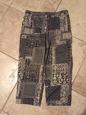 "Talbots Petites Printed Stretch Cropped Pants Size 10 Petite waist 30-32"""