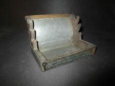 ancien porte plume crayon bureau artisanal boîte poudre de chasse fin XIX ème