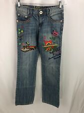 Teenie Weenie Embroidered Jeans youth size 38 NWT