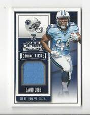 2015 Contenders Rookie Ticket Swatches David Cobb JERSEY Titans