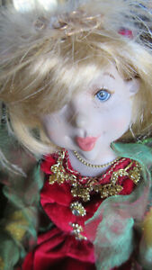 WOODLAND 2010 PIXIE FAIRY ELF POSABLE DOLL BLONDE HAIR GIRL WINGS EYELASHES 18""