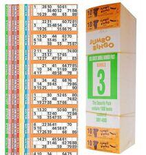 12000 BOOKS 10 PAGE GAME 12 TV STRIP OF JUMBO BINGO TICKET SHEET BIG BOLD NUMBER