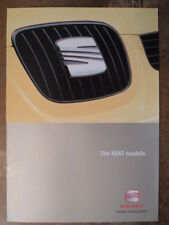 SEAT RANGE UK Mkt 2001 Sales Brochure - Arosa Ibiza Cordoba Leon Toledo Inca