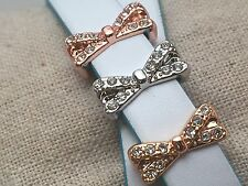 Bow Pave Slide Charms *New* Fits Keep Collective