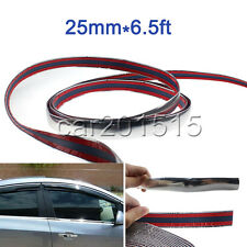 6.5ft(L)*25mm(W) Car Truck SUV Molding Trim Chrome Bumper Crash Protector Strip
