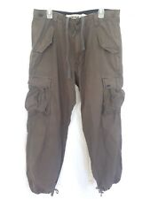 Mens Levis Cargo Pants Brown Tan with Drawstring 34x32 Workwear