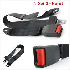 1 Set Black New Adjustable 2 Point Car Auto Seat Belt Lap Safety Belt Universal