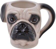 Glazed Ceramic Pet Pug Head Dog Novelty Coffee Tea Hot Chocolate Mug