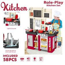 Kitchen Play Set Pretend Baker Kids Toy Cooking Playset Girls Food Gift Present