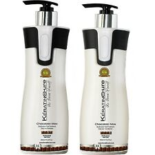 Keratin Cure Hair Chocolate Sulfate Free Daily Shampoo Conditioner 15 floz