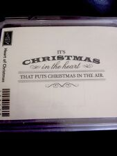 """""""HEART of CHRISTMAS"""" Stampin'UP! NEW~WOOD unmounted-NLA- RARE~set/1 Label~tag"""