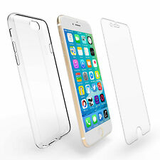 Shockproof 360° Clear Case Cover & Glass Protector For Apple iPhone 7 6s plus