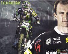 2013 Tyla Rattray Monster Kawasaki AMA Supercross Motocross postcard