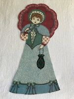 """Victorian Courtship Doll - 1 - Iron-On Fabric Appliques.. 6 3/4"""" Tall.  (D)"""