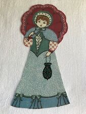 "Victorian Courtship Doll - 1 - Iron-On Fabric Appliques.. 6 3/4"" Tall.  (D)"